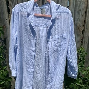 Baby blue striped button down